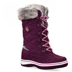 TROLLKIDS Holmenkollen Snow Boots Girls, dark rose